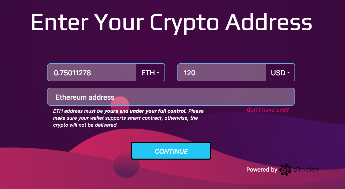 how to buy eth with credit card