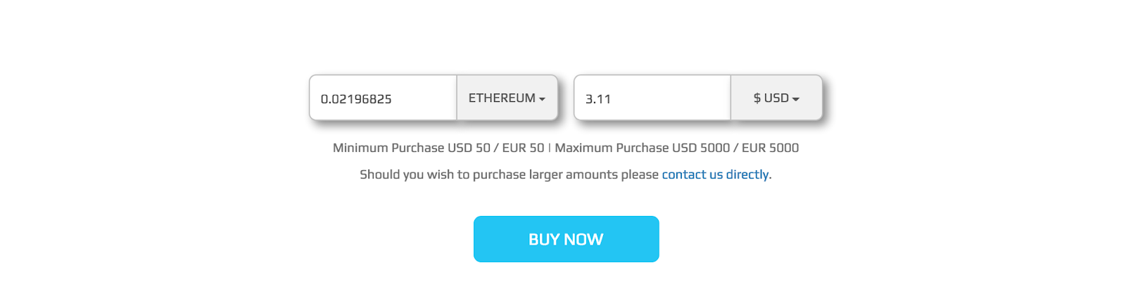 buy ether with debit card